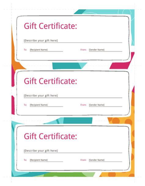 excel gift certificate template gift certificate template for free formtemplate