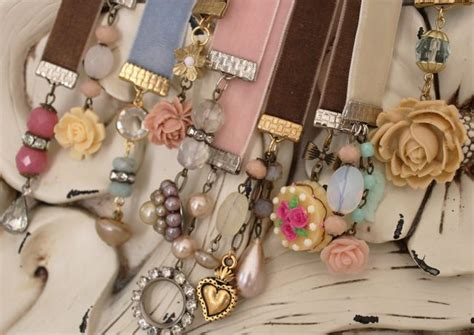 Handmade Vintage Gifts - vintage bookmarks on beaded bookmarks