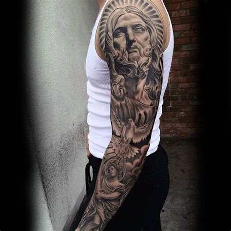 cross tattoos half sleeve religious sleeve tattoos designs ideas and meaning