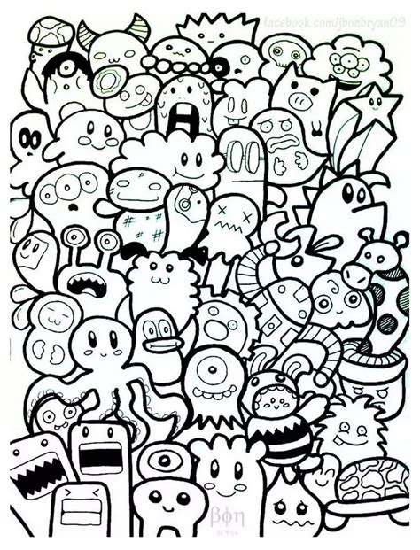 doodle pictures doodle coloring pages colouring detailed advanced