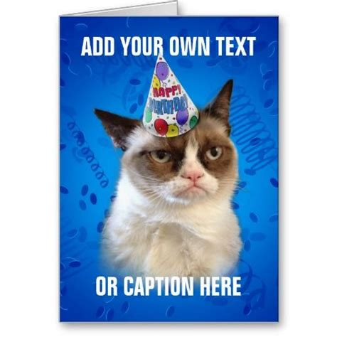 grumpy cat party ideas one charming party birthday grumpy cat customizeable happy birthday greeting cards