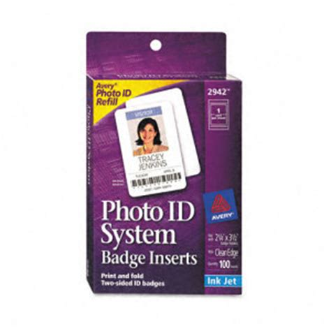 printable name badge inserts avery photo id badge inserts and holders ave2942