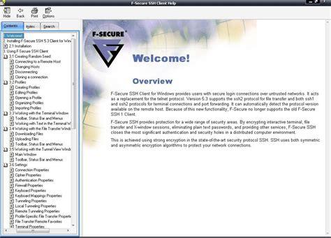 f secure ssh client software informer screenshots
