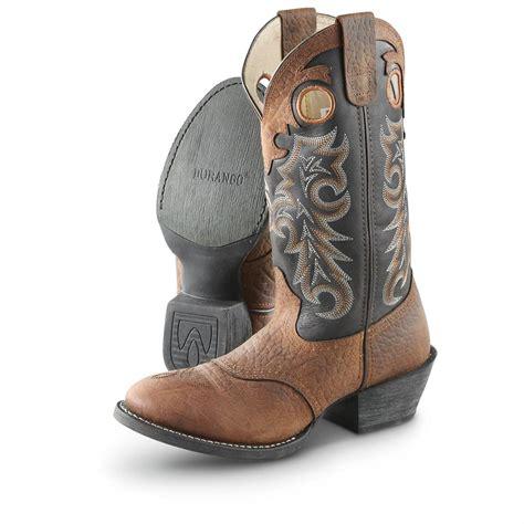 "Men's Durango Boot® 12"" Buckaroo Saddle Western Cowboy"