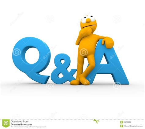 And Question With Answer Question Answer Royalty Free Stock Images Image 35256989