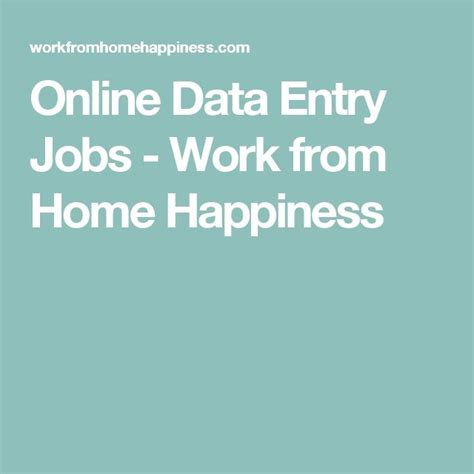 Online Data Entry Jobs Work From Home - 25 best ideas about online data entry jobs on pinterest