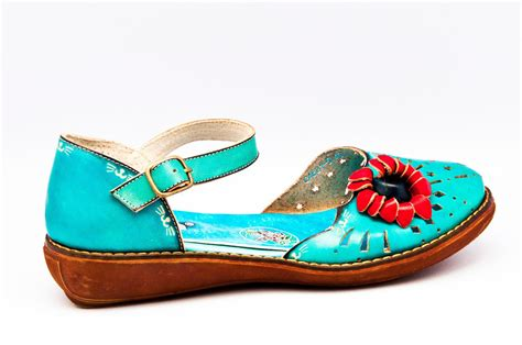 sandals with flowers yoma blue leather sandals with flower details multi