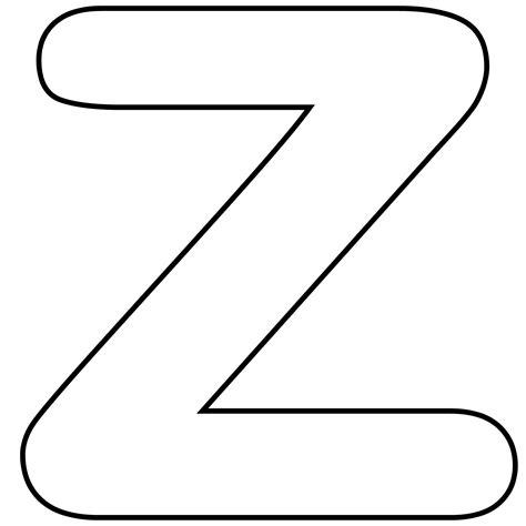 printable z template printable lower case alphabet letter z template for kids