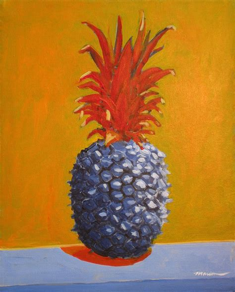 original pineapple painting blue pineapple