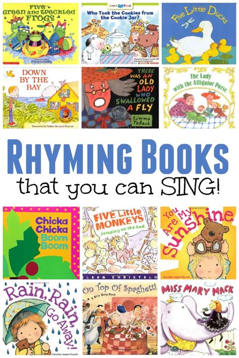 rhyming picture books rhyming books that you can sing