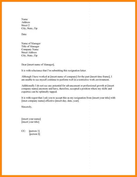 Resignation Letter Uncomfortable Work Environment 10 Forced Resignation Letter Resumed