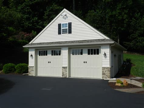 Custom 2 Car Garage by Custom Two Car Garage With Attic Traditional Garage