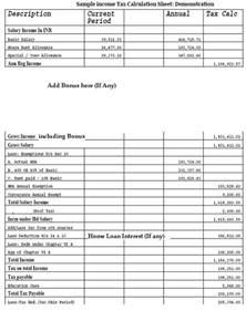 Tax Calculator Spreadsheet Indian Income Tax Efiling Returns Income Tax Calculator