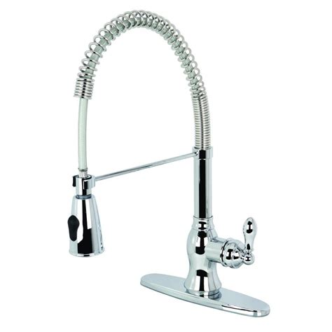 kingston brass chrome templeton pull out sprayer kitchen kingston brass single handle pull down sprayer kitchen