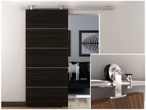 Barn Door Sliding Hardware Interiors 6 6 Ft Stainless Steel Interior Modern Sliding Barn Wood Door Hardware Track Set Ebay