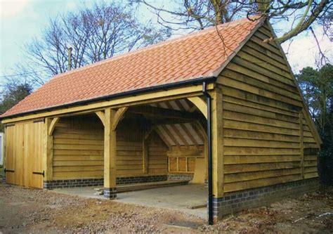 Oak Framed Car Port by Oak Garages Fully Bespoke Oak Frame Timber Garages