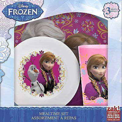 Disney Frozen Breakfast Set Pink bowls plates cups kitchen dining children s home