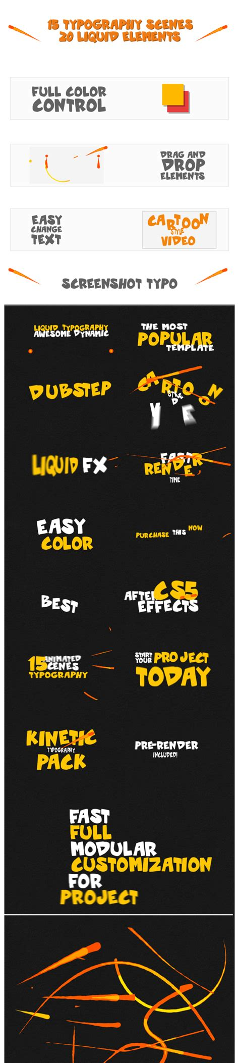 dynamic typography tutorial after effects dynamic liquid typography after effects project files