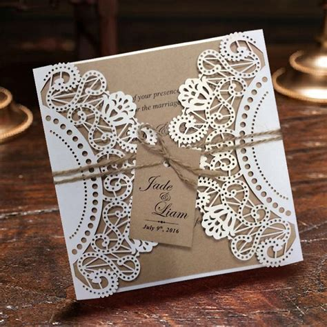 aliexpress buy wedding invitation white lace invitation cards sle listing from