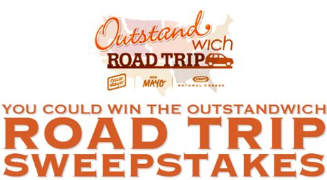 Kraft Foods Sweepstakes - kraft outstandwich roadtrip sweepstakes 100 amex gc giveaway closed finding zest