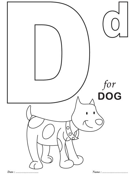 d coloring pages for kindergarten printables alphabet d coloring sheets download free