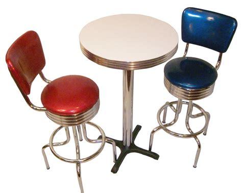 Vintage Bar Table And Stools Pub Table Sets Retro Bar Kitchen Restaurant Diner Usa