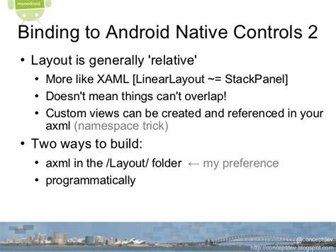 xaml linear layout cross platform mobile dev with mono