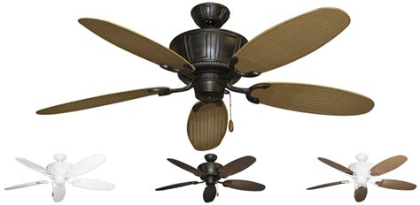 Wicker Ceiling Fans by 52 Inch Centurion Tropical Outdoor Ceiling Fan Leaf Wicker