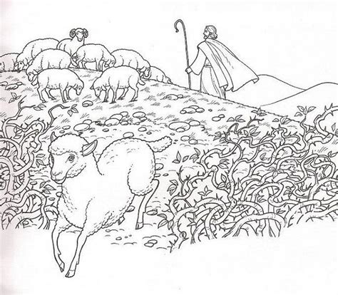 coloring page jesus with sheep 10 best images about the lost sheep jesus is the good