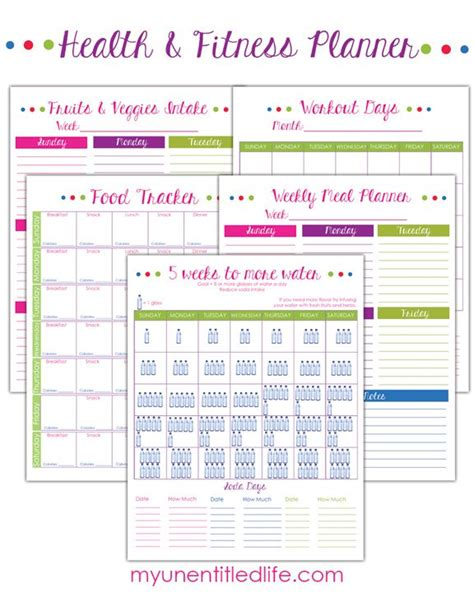 printable exercise planner free weight loss trackers and fitness printables