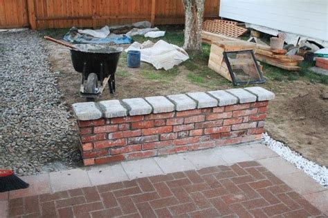 diy brick seat wall on patio neat the o