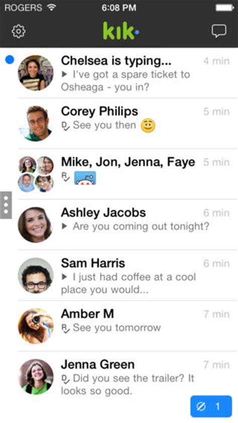 kik themes iphone iphone top 25 applications kik messenger