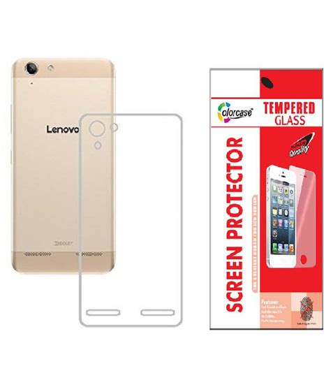 Tempered Glass Lenovo Vibe K5 1 colorcasecombo oftransparent transparent back cover