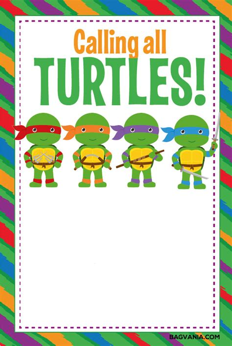 turtle birthday card template free printable turtle birthday invitations