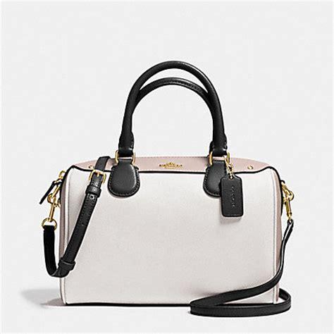 Coach Bennet Chalk coach f37708 mini satchel in colorblock leather imitation gold chalk grey birch