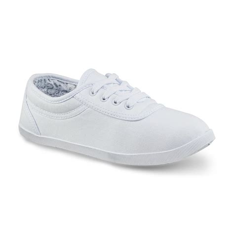 basic sneakers basic editions s eavan white canvas oxford shoe