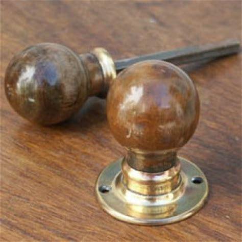Wooden Door Knobs by Pair Of Antique Wooden Door Knobs Set