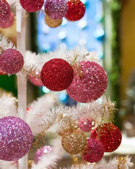 diy ornaments martha stewart glitter garland martha stewart