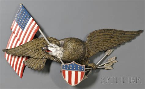 american eagle woodworking carved and polychrome painted wood american eagle shield