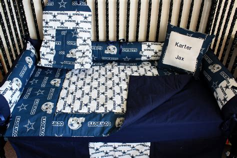 Dallas Cowboy Crib Bedding by 5 Pc Dallas Cowboy Baby Bedding Set Free Personalized Pillow