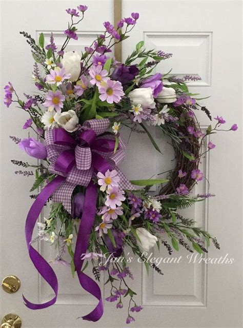 spring wreath ideas to make 1000 ideas about purple wreath on pinterest grapevine