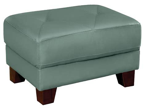 Vita 100 Genuine Leather Ottoman Sea Foam The Brick Genuine Leather Ottoman