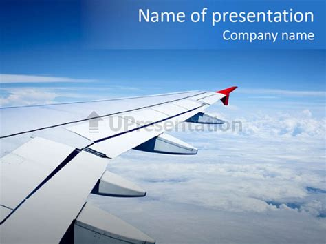 Airlines Nature Aircraft Powerpoint Template Id 0000079239 Upresentation Com Airplane Powerpoint Template