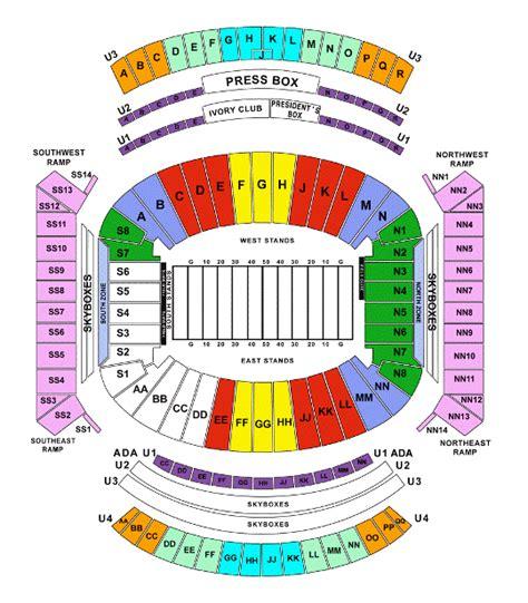 alabama football stadium seating chart alabama football stadium map afputra