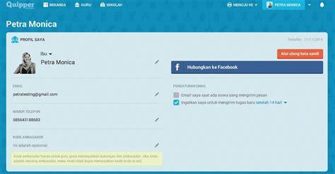 cara membuat email quipper school informasi akun pengguna quipper school