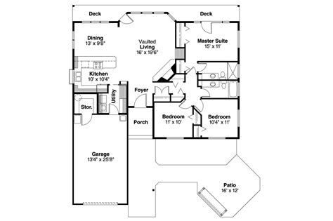 ranch house floor plans ranch house plans connelly 30 375 associated designs
