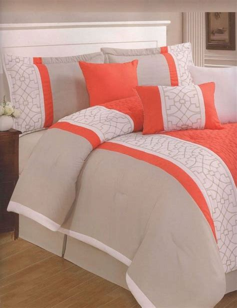 modern bed sets queen 7 pc embroidery modern comforter set queen bed in a bag