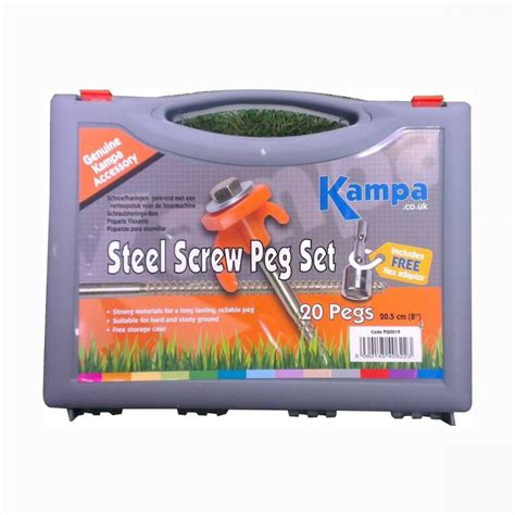 Kampa Awnings For Sale Kampa Pg0019 Steel Peg Set With Adaptor And Puller