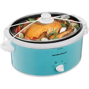 walmart crock pot sale hamilton 5 quart portable cooker blue