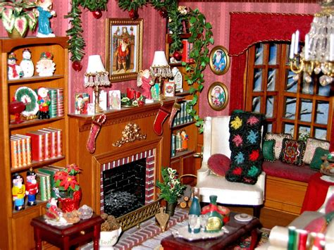 Blukatkraft Dollhouse Miniatures Christmas Room Box 1 12 Scale